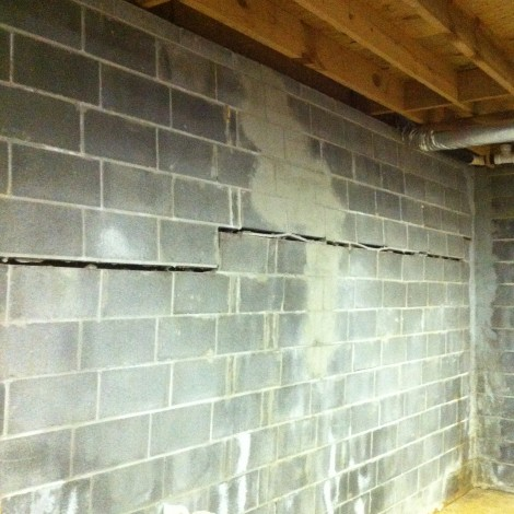 Bowing Basement Wall Crack